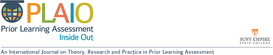 PLAIO: An International Journal on Theory, Research and Practice in Prior Learning Assessment